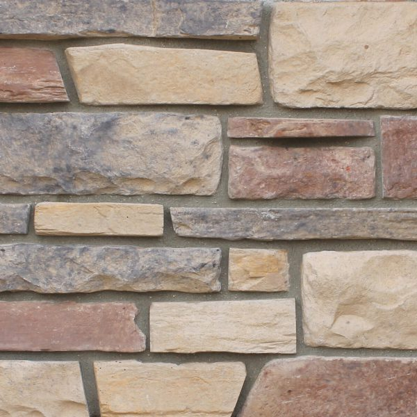 NEWGRANGE shown in Savannah Ledge Manufactured Stone Veneer by ZEMENT Stone